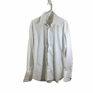 Brioni 100% Cotton Formal Dress Shirt w/ Cufflinks